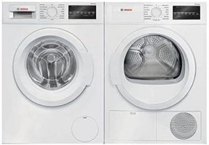 9. White Front Load Laundry Pair with WAT28400UC