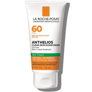 La Roche-Posay Anthelios Clear Skin Dry Touch Sunscreen Broad Spectrum SPF 60, Oil Free Face Sunscreen, Non-Greasy, Oxybenzone Free, 1.7 Fl. Oz